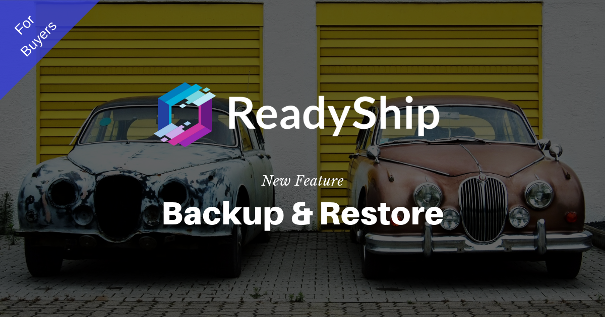 We have released Backup & Restore