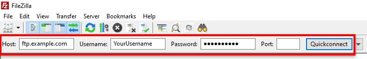 quickconnect filezilla