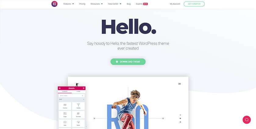 hello wordpress theme for elementor