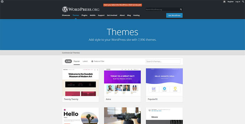 wordpress themes repository