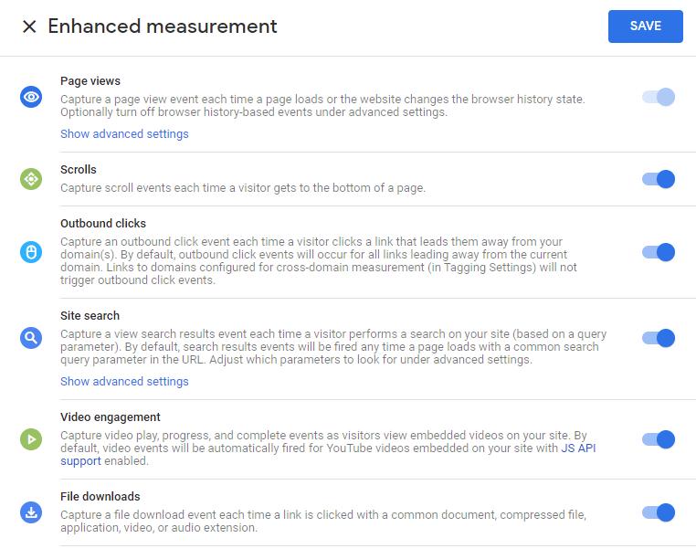 google analytics enhanced measurement