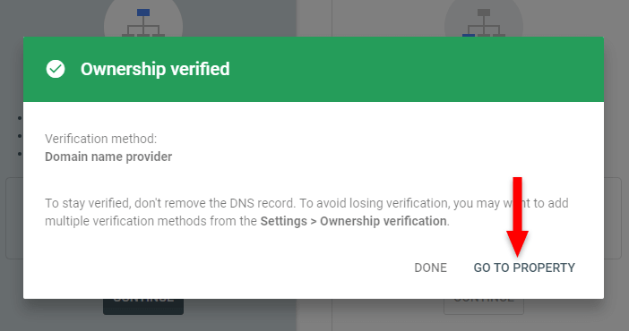 ownership verified google search console