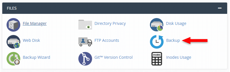 Backup tool in cpanel