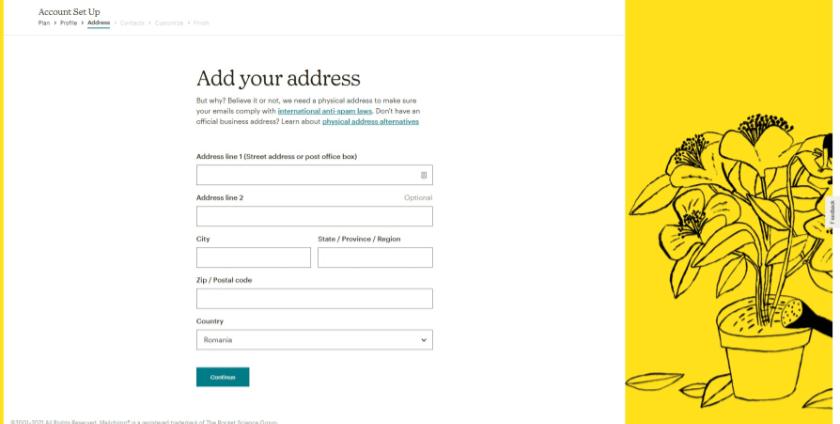 mailchimp address