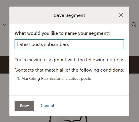 name segment in mailchimp