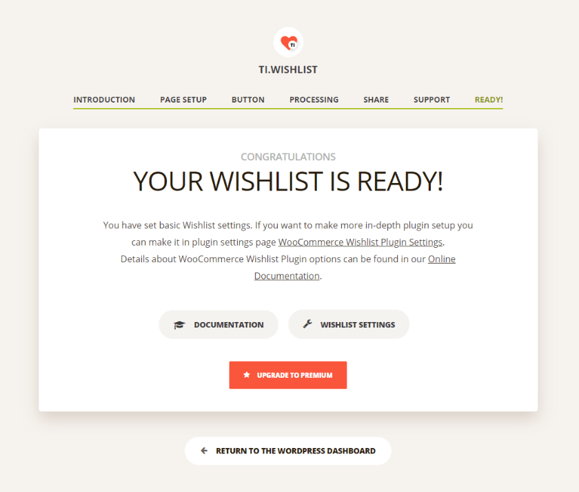 TI WooCommerce Wishlist plugin ready