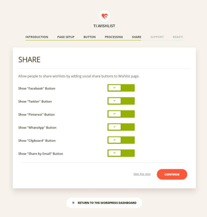 TI WooCommerce Wishlist plugin share options