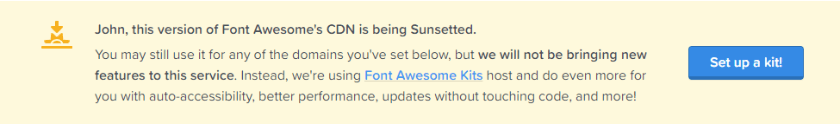 font awesome sunsetting cdn